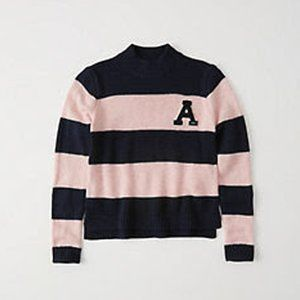 Abercrombie & Fitch | Varsity Logo Striped Sweater
